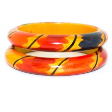 Wooden Bangle- Round form - Lacque finish - 13mm