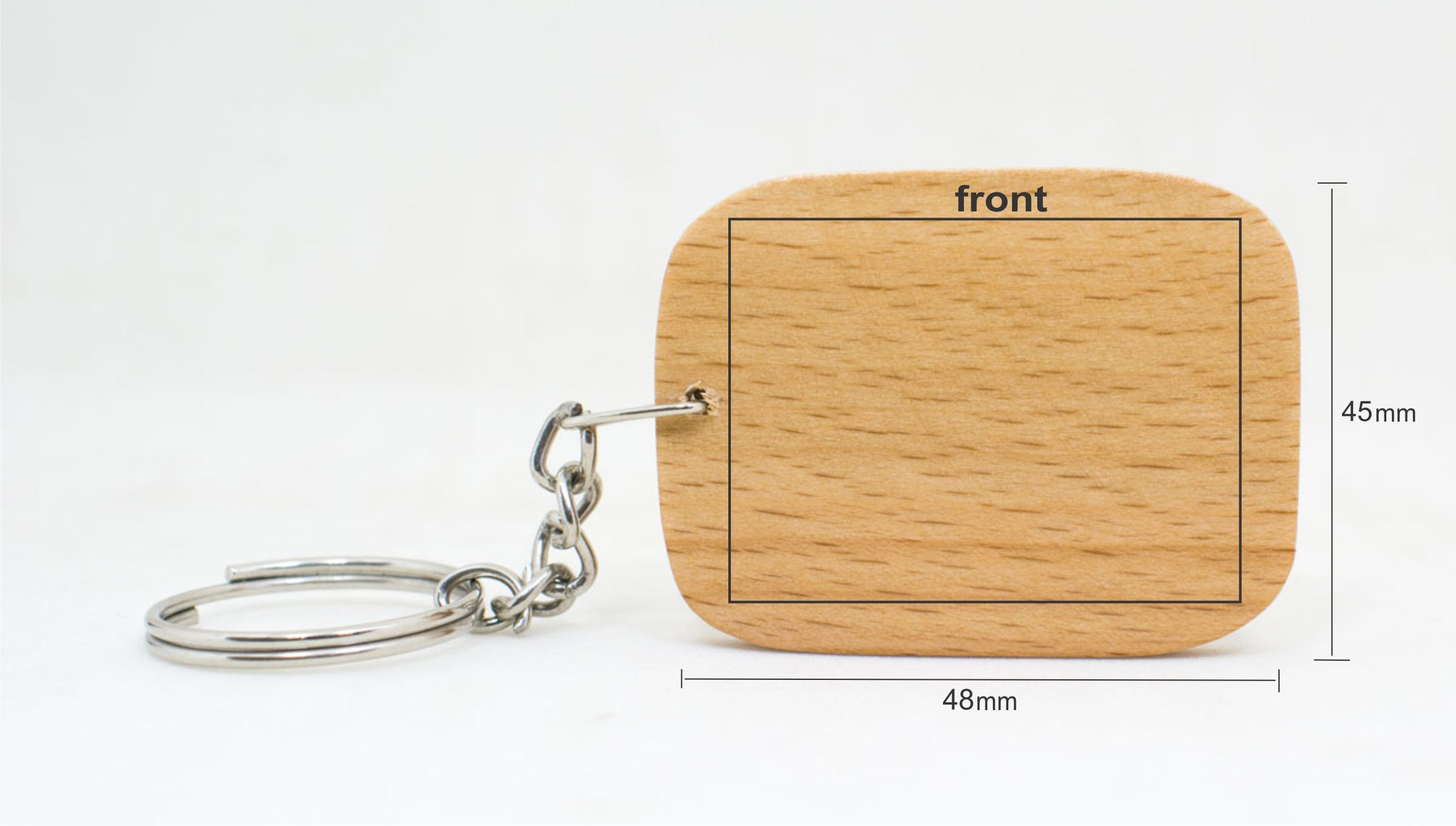Custom Engraved Key Chain - Chamfered Square