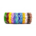 Wooden Bangles - Painted/ Multi color/ Combo/ Set of 24