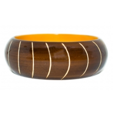 Wooden Bangle -Round Form - Carving - 25mm