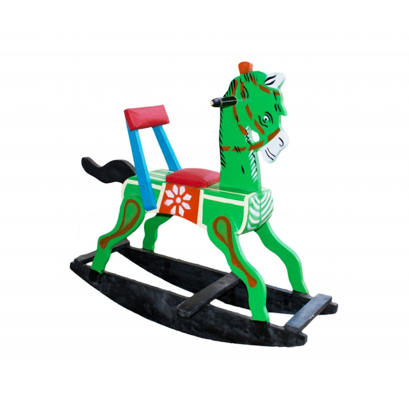 Channapatna Toys Custom Wooden Engraved Gifts Rocking Horse Wooden