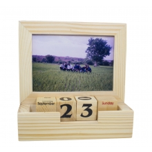 Memories - Wooden Calendar cum Photo Frame