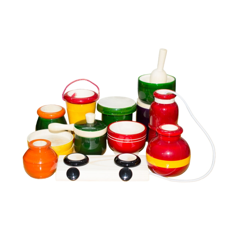 Cooking Set For Kids Channapatna Toys Custom Wooden Engraved Gifts