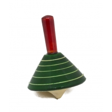 Spinning Pyramid - Finger Tops - Handcrafted toy - Non toxic color dye - Channapatna toys