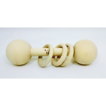 Simple Kids Rattle - Natural