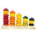 Match n Stack - Count n Play - Wooden abacus  for kids - Educational puzzle- Non-toxic organic toys by Channapatna Toys