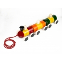 Kiddie Train - Colorful Pulling Train by Channapatna Toys - Bogey train - Vehicle toys - Heart-winning movable toys