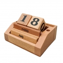Eternal Days - Permanent Wooden Calendar by Channapatna Toys - Beech wood Desk Organizer for home and office - corporate gifts