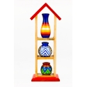 Pot House - Pretty 3 - Home Decor by Channapatna Toys - Heart-winning decorative pots - Traditional gifts