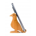 Pretty Bird - Birdie themed Mobile Holder by Channapatna Toys - Beautiful Brown Dove for work desk