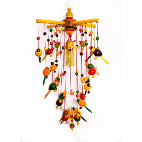 Chirping Birds - Wooden Wind Chime